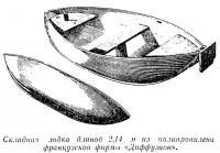 Складная лодка из полипропилена французской фирмы «Диффузион»