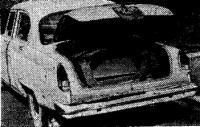 Собранная лодка в багажнике автомобиля