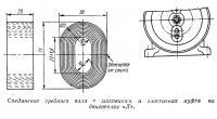 Соединение гребного вала с маховиком и эластичная муфта на двигателях «Л»