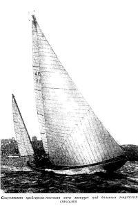 Современная крейсерско-гоночная яхта