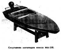 Спортивнвя мотолодка класса МА-250