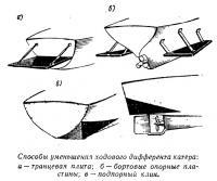Способы уменьшения ходового дифферента катера