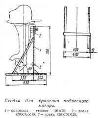 Стойка для хранения подвесного мотора