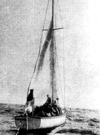 Сушка и починка парусов в море