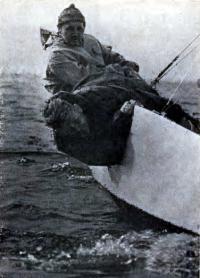 Т. Пинегин и Ф. Шутков на своем «звёздиике»