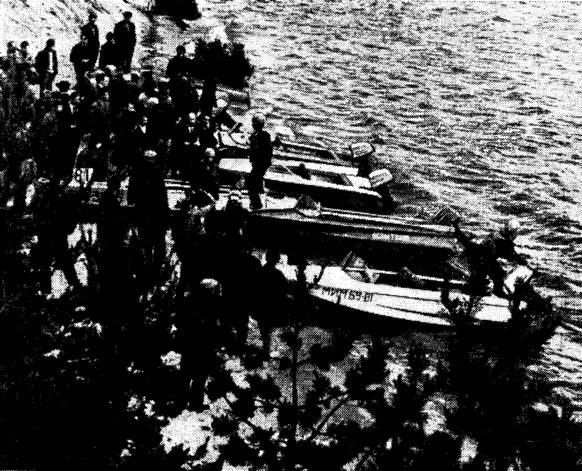 Техническая комиссия производит осмотр лодок и моторов победителей