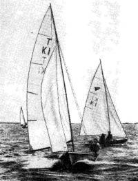 «Темпест» под парусами