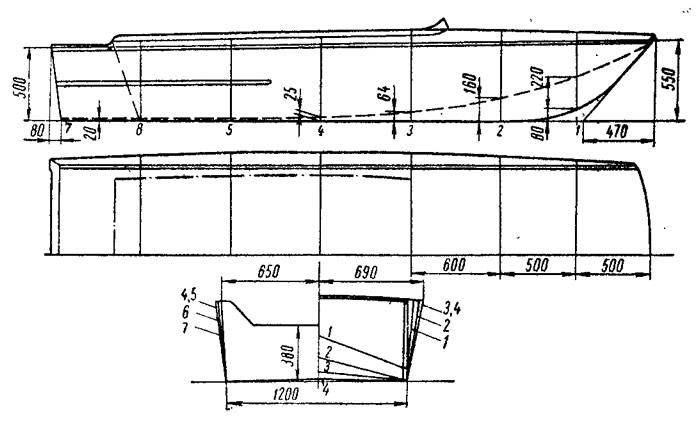 Металлическая лодка чертежи