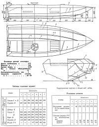 Теоретический чертеж и общий вид лодки