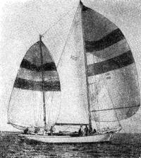 «Тикондерога» — первая яхта, достигшая финиша