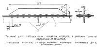 Типовой узел подкрепления изнутри корпуса в районах стыков наружных стрингеров