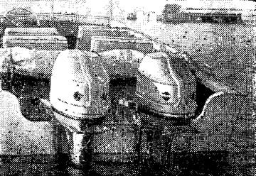 Транец нового «Прогресса» приспособлен для установки двух моторов