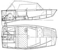 Трехметровый фанерный катер конструкции В. С. Куйбышева