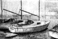 Три яхточки типа «Нефрит» в гавани Одесского яхт-клуба