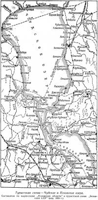 Туристическая схема — Чудское и Псковское озера