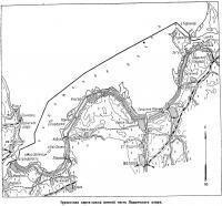 Туристская карта-схема южной части Ладожского озера
