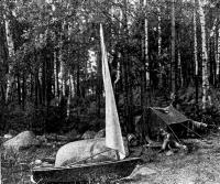 Тузик возле лагеря