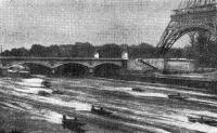 Участники гонок «6 часов Парижа» у Иенского моста