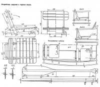 Устройство сидений и чертеж весла