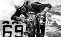В. Романов со своим мотором