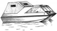 Вариант тримарана длиной 4,8 м с каютой и тентом