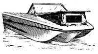 Вариант тримарана с носовой каютой (катер «Акула»)