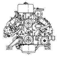 Вид двигателя сбоку