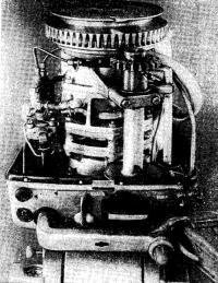 Вид мотора спереди
