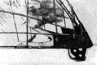Вид носовой оковки с путенсом штага до бетонирования