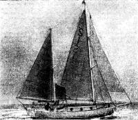 Вид сбоку на яхту «Сухали»