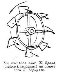 Винт Ж. Брама на основе идеи Д. Бернулли