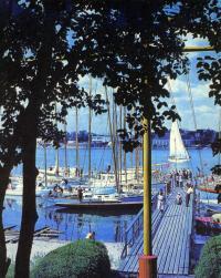 Яхт-клуб «Калев» в Пярну во время финиша предпоследнего этапа