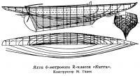 Яхта 6-метрового R-класса «Китти». Конструктор М. Гнлес