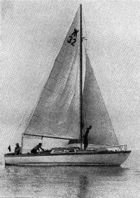 Яхта под парусами