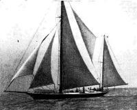 Яхта «Утеха» Кронштадтского яхт-клуба (фото 1972 г)