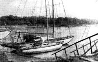 Яхта «Юкость» у причала Ленинградского яхт-клуба