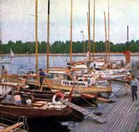 Яхты перед выходом из Ленинграда