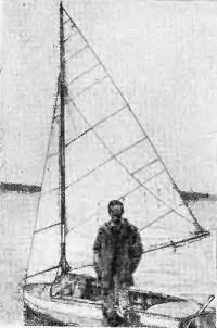 Ю. Зломанов со своим Швертботом «Меви»
