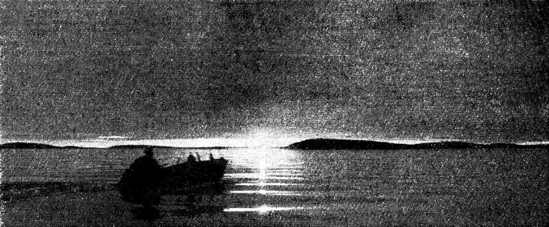 Закат над берегом