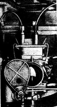 Заслонка карбюратора для обогащения смеси при запуске