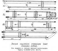 Звенья скулового стрингера (вид снаружи лодки)