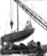 Звездник своей конструкции спускает на воду призер Первенства Б. Мирохина