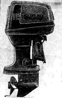 115-сильный мотор «Сузуки», оборудованный системой впрыска масла в цилиндры