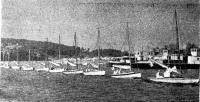 1937 г. В Москву пришел караван яхт из Ленинграда, составивший основу парусного флота столицы