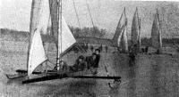 1939 г. Буера на Клязьминском водохранилище