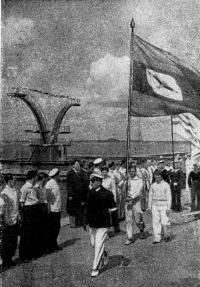 1940 г. Парад московских яхтсменов в честь Дня Военно-Морского Флота СССР