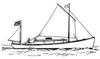 «Абель Аббот Лоу» под парусами. Рисунок того времени из американского журнала «Yachting»