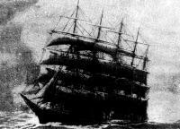 Барк «Потоси» в море. С картины неизвестного художника