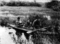 Байдарка-тройка с веслами