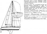 Боковой вид и эскиз обводов крейсерско-гоночной яхты «СТ28»